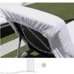 Cotton Terry Lounge Chair Cover With Hooded Elastic Top And Hemmed On 3 Sides