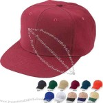 Cotton twill constructed pro cap, 6 panel with fused buckram backing