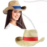 Cowboy Straw Hat with Hatband