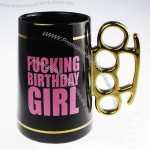 Creative Beer Mug With Knuckle Duster Fistic Handle