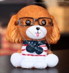 Creative Glasses Puppy Money Coin Bank