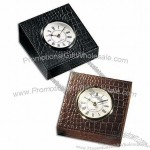 Croco Leather Table Clock(1)