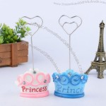 Crown Couple Wedding Place Card Holder