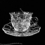 Crystal-clear Glass Cup and Saucer