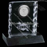 crystal clock with chipped edges