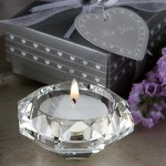 Crystal Collection Diamond candle holder favors