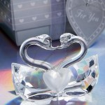 Crystal Collection kissing swans