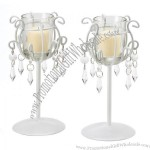 Crystal Drop Votive Stands Wrought Iron Candleholder