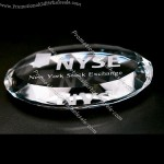 Crystal Flat Oval Paperweight