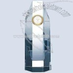 Crystal octagon tower clock
