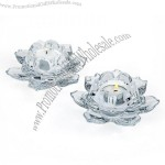 Crystal Votive Pair Candle Holders