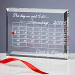 Crystal Wedding Calendar Keepsake