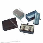 Cuff Link Box With Plastic Molding, Ideal For Cuff Link Packing