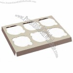 Cupcake Box with 350gsm Weight, C1S Art Paper Box with Plastic Window, Used for Food Packaging