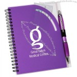 Curvy Top Notebook with Pen