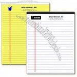 Custom Legal Pads with Your Name and Company Name printed on every page