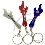 Custom Printed Torch Shaped Bottle Opener Key Tag