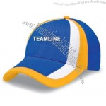 Customized embroidered promotional light brushed cotton twill cap.