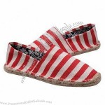 Customized Espadrille Flat Canvas Shoes with Jute Sole