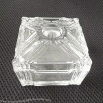 Customized High White Glass Candy Jar Box