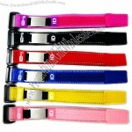 Customized Medical Alert Velcro ID Bracelet with Stainless Steel Plate