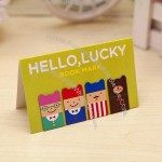 Cute OEM Soft PVC Bookmark