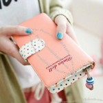 Cute zipper Ms. Long Wallet