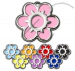 Daisy Flower Pet ID Tag - With Engraving