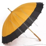 Dandelion Wooden Handle Umbrella