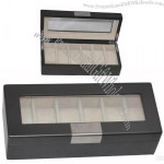 Dark brown matt finish MDF wooden watch boxes with 6 pcs watches per box
