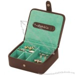 Dark Brown Traveller Jewellery/Cufflink Box