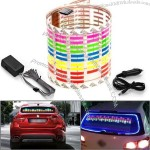 DC 12V Sound Sensitive Music Beat Activated Car Sticker Equalizer Glow Colorful LED Light
