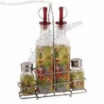 Decal Glass Spice Rack