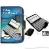 Deluxe 7 Day Pill Organizer Box In Wallet