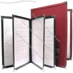 Deluxe Clear Stitched Menu Covers