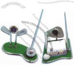 Deluxe Golf Pen Set With Clock and Memo Pad