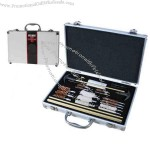 Deluxe gun cleaning kit in aluminum carrying case.