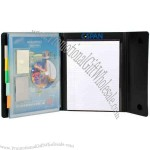 Deluxe multi function folder, letter size, pad included