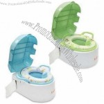 Deluxe Potty Seat Trainer with Toilet Paper Holder