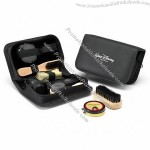 Deluxe Shoe Shine Kit with Carry Case