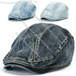 Denim Flat Cap Cabbie Driving Hat Gatsby Ivy Irish Newsboy