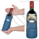 Denim Overalls Wine Bottle Cover