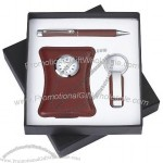 Desk Clock, Ball Pen Keychain Gift Set(1)