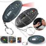 Digital LCD 4 in1 Flashlight Parking Timer Key Ring and Alcohol Breath Tester