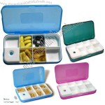 Digital Medicine 7 Compartment Pill Box with One Key Timing Reminder