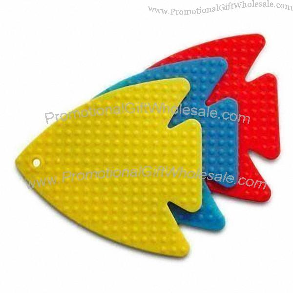 Dishwasher safe tropical fish silicone coaster hot mats for Wholesale tropical fish