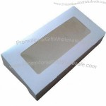 Disposable Donut Boxes, Used for Bakery Box, Grease-resistant White Cardboard