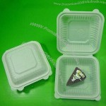 Disposable Food Container, Made of Corn Starch, Biodegradable