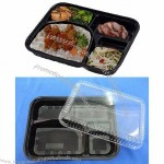 Disposable Plastic Lunch Box, Made of PP and BOPS