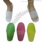 Disposable Slippers, Made of Short Fiber, Open/Closed Toes